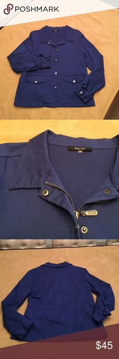 41 Hawthorne Blue utility jacket. 41 Hawthorne Blue utility jacket. Lots of great features. Body Material is 99% cotton, 1% apan. Contrast material is 100% polyester. 🌺 hand wash cold, tumble dry low. 🌺 excellent condition. 🌺 nonsmoking home. 🌺 41 Hawthorn Jackets & Coats Utility Jackets