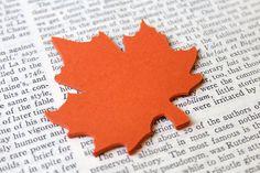 LARGE, Leaf Die Cut, Orange Leaves, Paper Tags, Blank Tags, Wedding Favor Tags, Rustic Wedding, Table Decorations