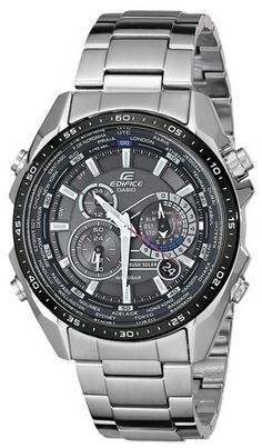 cool Casio Men's EQS500DB-1A1 Edifice Tough Solar Stainless Steel Multi-Function Watch with Link Bracelet - For Sale Check more at http://shipperscentral.com/wp/product/casio-mens-eqs500db-1a1-edifice-tough-solar-stainless-steel-multi-function-watch-with-link-bracelet-for-sale/