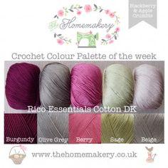 Blackberry & Apple Crumble - RICO Essentials Cotton DK - Yarn Packs - Wool & Yarn