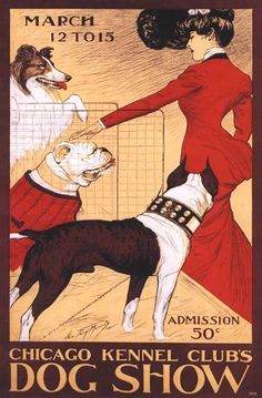 A 1902 Chicago Dog Show Boxer Collie Pit Bull Terrier Art Poster | eBay