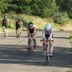 On the bumpy bike course (with speed bumps!!) at the 2012 Mini Sprint Triathlon festival with Jensen Button Foundation at Luton Hoos in England
