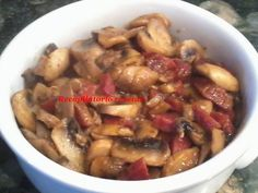 Recopilatorio de recetas : Champiñones al ajillo con jamón en thermomix