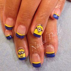 - Photo taken by Jessica Vero Nail Design- Girls Nail Designs, Creative Nail Designs, Creative Nails, Nail Art Designs, Hot Nails, Hair And Nails, Gorgeous Nails, Pretty Nails, Minion Nail Art