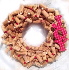 Christmas Wine Cork Wreath on Etsy, $40.00