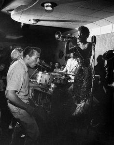 suedetaxi:  Clora Bryant, Hermosa Beach, CA 1954