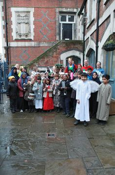 At The Spitalfields Nativity Procession  December 14, 2014