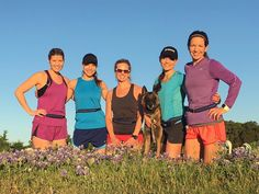 Loving this pic of @chikageweathe and her running group enjoying the beautiful weather and bluebonnets! Oh and of course their #spibelts!