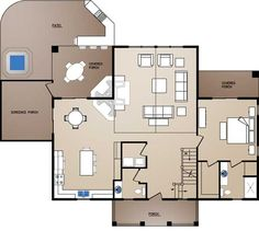 Amber Ridge Log Home Floor Plan by Wisconsin Log Homes