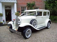 Barnsdale Vintage style white wedding car gallery Kent