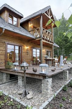 ➤ 61 Most Inspiring Modern Dream House Exterior Design Ideas 55 Best Tiny House, Small House Plans, Rustic Exterior, Exterior Design, Small Cottage Designs, Log Cabin Homes, Cabins And Cottages, Small Cottages, House In The Woods