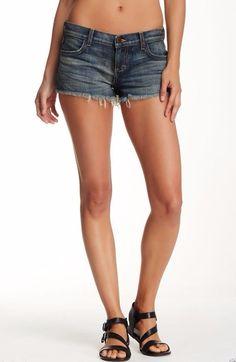 SIWY DENIM Sexy Short Cut Off Camilla Low Rise Jeans Shorts Hail Stone Blue 24 $ #SiwyDenim #CasualShorts
