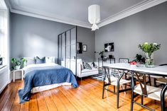 9 Cozy Apartment Decoration That Will Warm You - Best Home Remodel Modern Studio Apartment Ideas, Studio Apartment Layout, Small Studio Apartments, Studio Layout, Modern Apartments, Cozy Apartment, Apartment Interior, Apartment Design, Apartment Living