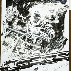 Ghost Rider commission by Michael Walsh. @fanexpocanada