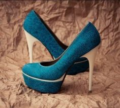 How about this shoe? Share to get a coupon for all on FSJ Blue Platform Heels Satin Pumps Stiletto Heels for Bridesmaid Teal Heels, Blue Shoes, Floral Heels, Pretty Shoes, Beautiful Shoes, Awesome Shoes, Pretty Clothes, Crazy Shoes, Me Too Shoes