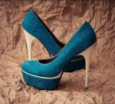 Blue Pattern Heel
