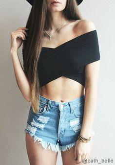 summer lovin' // criss cross tank (cute with shorts or a maxi skirt)