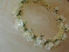 Antique White Rose Flower Crown Wedding от BunniesMadeOfBread