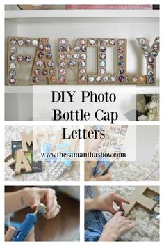 e996f08de54 DIY Photo Bottle Cap Letters