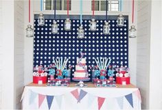 Fabulous Features by Anders Ruff Custom Designs: Anders Ruff 4th of July Pinwheels Party