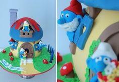 Smurf Cake, top birthday cake ideas | #cake #birthday #mum