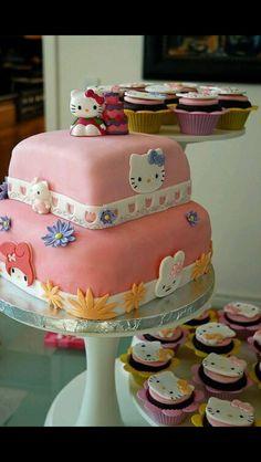 Hello kitty square cake