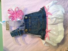 Overall tutu dress in pink and white by YouPickISewDesigns on Etsy