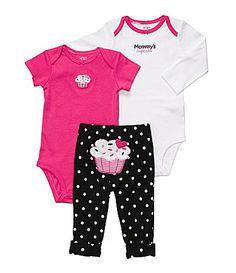 Carters Newborn Cupcake 3Piece Bodysuit Set #Dillards