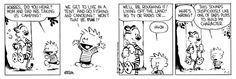 Calvin and Hobbes, August 10, 1987 - This sounds suspiciously like one of Dad's plots to build my character.