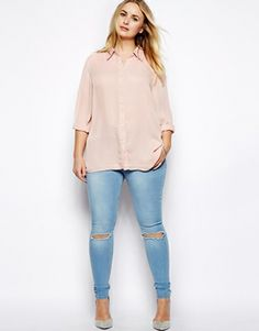 A dash of pink for the curvettes! New Look top, sizes UK20-26. #SS14 #curvy #plussize
