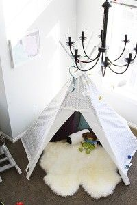 Playroom Teepee - dream catcher - withheart.com