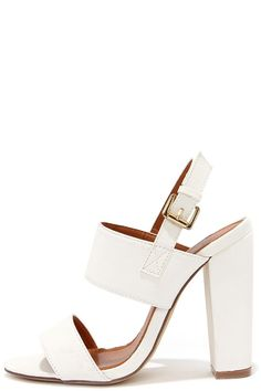 Fay 1 White High Heel Sandals at Lulus.com!