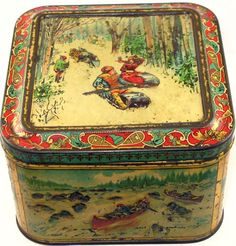 "Huntley and Palmers ""Canadian"" biscuit tin    1900"