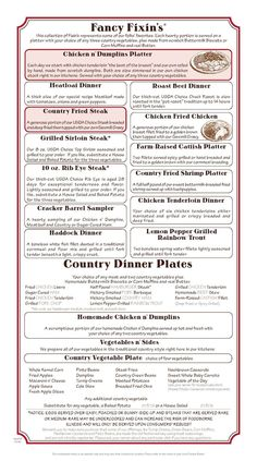 Cracker Barrel Daily Dinner Features and Lunch Specials