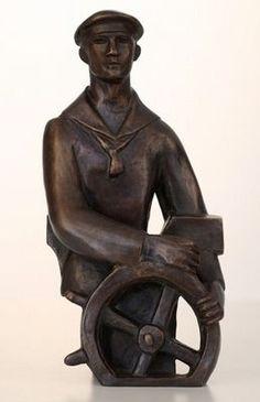 Otto Gutfreund, Námořník (návrh 1923), bronz, výška 24,4 cm