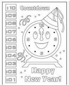 2016 new years eve coloring pages ~ New Years coloring pages - New Years eve coloring sheets ...