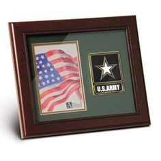 Go Army Medallion Portrait Picture Frame Hand Made By Veterans