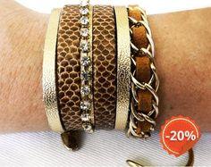 Conjunto Pulseiras Cobra ( 2 pulseiras) - R$36.00