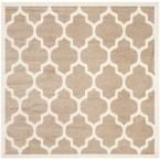 Amherst Wheat/Beige 5 ft. x 5 ft. Indoor/Outdoor Square Area Rug