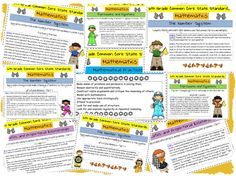 Common Core State Standards 6th Grade Math FREE Printable
