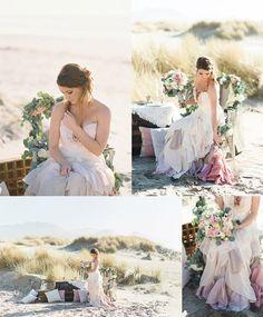 Seaside Romance Bridal Inspiration Shoot   orbridemag.com   Ivy & Gold Photography   Heirbloom Floral