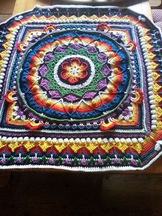 Ravelry: Project Gallery for Sophie's Universe CAL pattern by Dedri Uys Afghan Crochet Patterns, Crochet Motif, Knit Crochet, Crochet Afghans, Crochet Blocks, Crochet Squares, Granny Squares, Knitting Projects, Crochet Projects