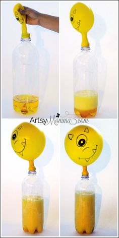 Self-inflating Balloon Science Experiment - Halloween Activity for Kids