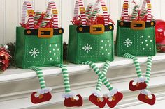 Cute Elf Treat Bags- Perfect for candy, gift cards or other small gifts.