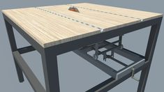 Professional Saw Bench Design Garage Workbench Plans, Mobile Workbench, Garage Tools, Coffee Table Overstock, Homemade Tables, Diy Table Saw, Stage Set Design, Bench Designs, Round Design