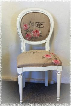 painted chair cover