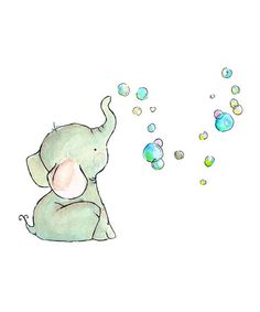 Love this Elephant Bubbles Print on #zulily! #zulilyfinds @mcculloughlife