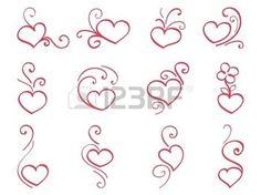 Coeurs dessin�s � la main 3 photo