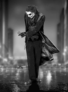 """""""Let's put a smile on that face!"""" The Dark Knight (2005)."""