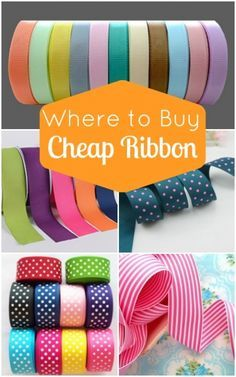 Where to Buy Cheap Ribbon - lots of online sources for inexpensive ribbon!